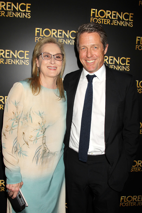 New York, NY -  - 8/9/16 - Paramount Pictures Presents the New York Premiere of ''FLORENCE FOSTER JENKINS''. The film stars Hugh Grant, Meryl Streep, Simon Helberg and Nina Arianda. It is directed by Stephen Frears, and releases in theaters nationwide on