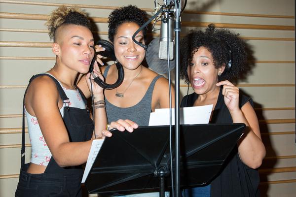 Photo Coverage: THE SPONGEBOB MUSICAL Cast Ditches Bikini Bottom for the Recording Studio!
