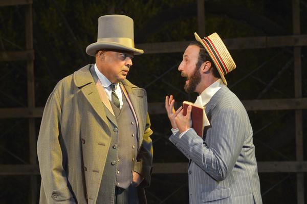 (L to R) Michael Torres as Fergus Crampton and Matthew Baldiga as Valentine in Califo Photo