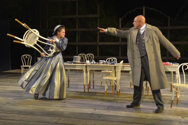(L to R) Sabina Zuniga Varela as Gloria and Michael Torres as Fergus Crampton in Cali Photo