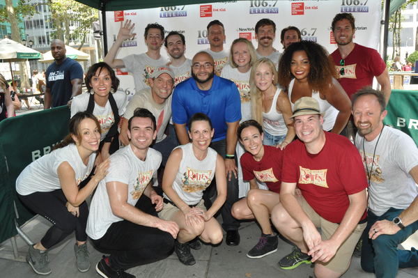 LITE FM 106.7''s Victor Sosa joins in with The Cast of Something Rotten-Catherine Bru Photo