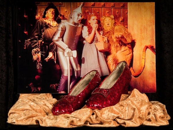 Judy Garland''s Ruby Slippers from ''The Wizard of Oz'' Photo