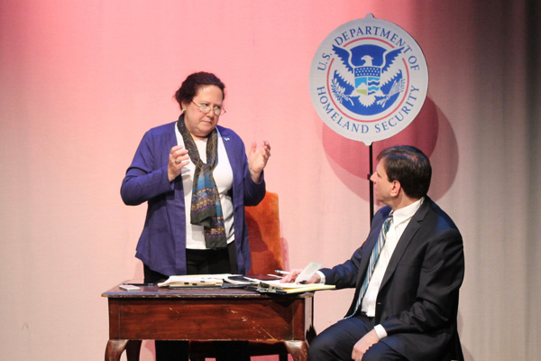 Photo Flash: First Look at the Political Intrigue in DEBRIEFING at FringeNYC