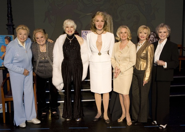 The 2009 ''Lengendary Ladies of Stage and Screen'' during the Smithsonian induction of iem from their careers - Lft to Rt - Esther Williams, Rose Marie, Carol Channing, Julie Newmar, Tippi Hedren, Florence Henderson and June Lockhart