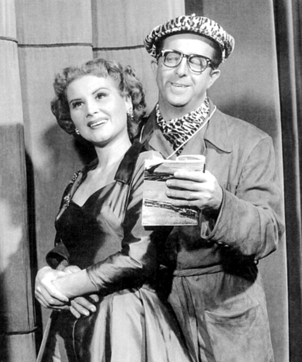 With Phil SIlvers on Broadway in ''Top Banana''