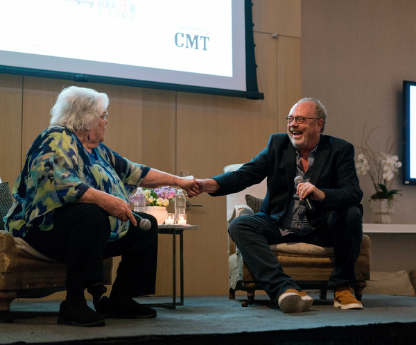 Music Row Storytellers honoree Hazel Smith and Mike Dungan, Chairman & CEO of Universal Music Group Nashville reminisce onstage