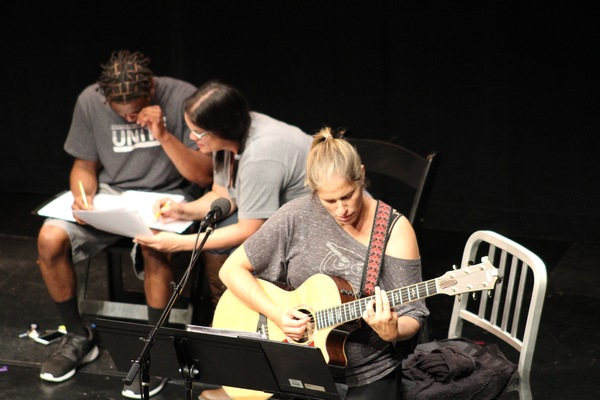 How to Break Rehearsal. Photo by Andrew Garrett. Property of Village Theatre. Photo