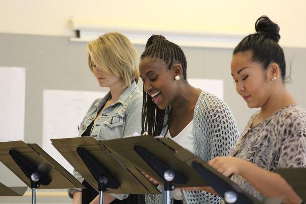 String Rehearsal. Photo by Andrew Garrett. Property of Village Theatre. Photo