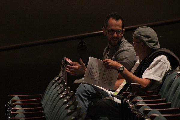 Associate Artistic Director Brandon Ivie and Artistic Director Steve Tomkins. Photo by Andrew Garrett. Property of Village Theatre.