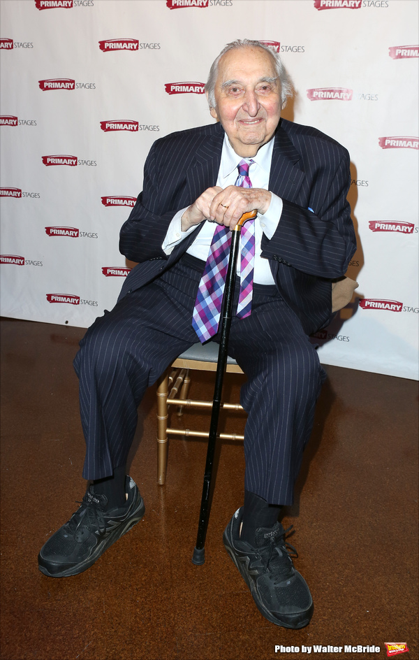 Fyvush Finkel attends the Primary Stages Gala honoring Marc Shaiman and Scott Wittman at 583 Park Avenue on November 16, 2015 in New York City.