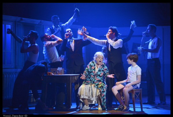 Dina Doron as Grandma, Arnon Herring as Billy and the cast of BILLY ELLIOT