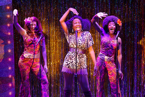 Jeannette Bayardelle (Deloris Van Cartier) with Cara Salerno (Michelle) and Tyla Coll Photo