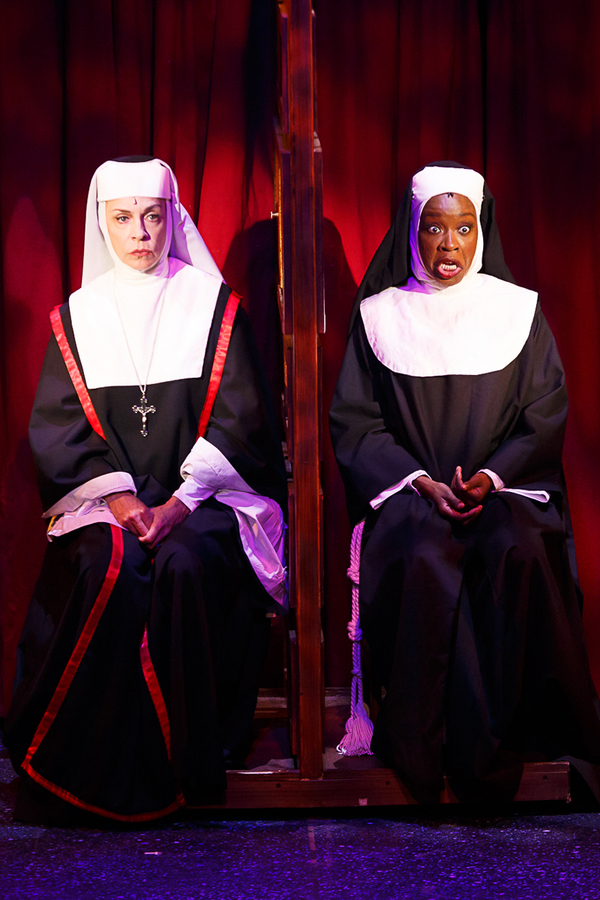 Ellen Harvey (Mother Superior) and Jeannette Bayardelle (Deloris)