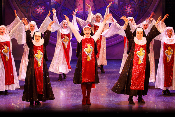 Tina Johnson (Mary Lazarus), Lael Van Keuren (Mary Robert), Jennie Boone (Mary Patrick) and the ensemble of Theatre By The Sea''s SISTER ACT