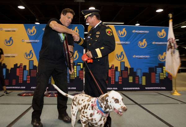 Lou Ferrigno and Commander John Ramirez