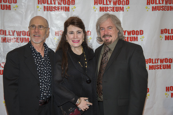 Donelle Dadigan posses on the red carpet with Barry and Stanley Livingston, real life and reel life brothers (Ernie and Chip Douglas/My Three Sons)