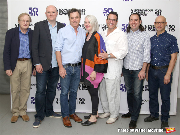 Stephen Gabis, Mike Bartlett, Derek McLane, Susan Hilferty, Michael Mayer, Kai Harada, and David Lander