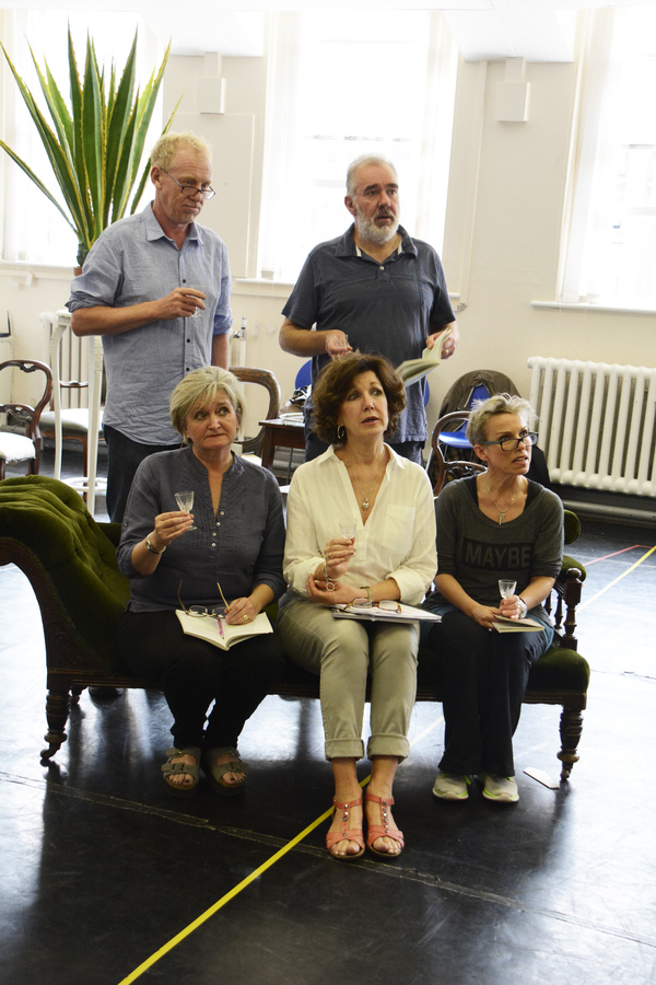 Steven Huison and Mark Stratton, Kate Anthony, Geraldine Fitzgerald and Sue Devaney