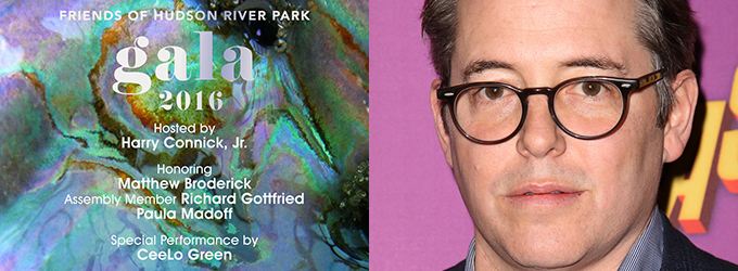 Matthew Broderick Will Be Honored at Friends of Hudson River Park Gala 2016