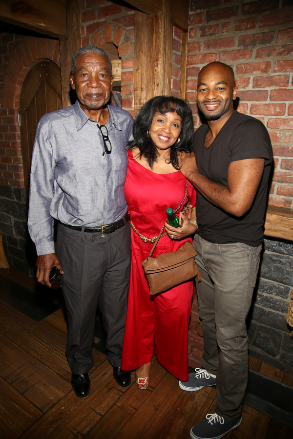 Brandon Victor Dixon with his father and mother