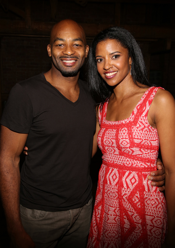 Brandon Victor Dixon and Renee Elise Goldsberry