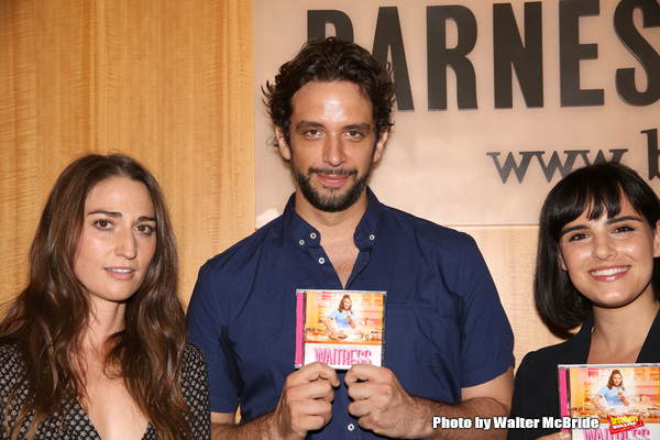 Sara Bareilles, Nick Cordero and Molly Hager