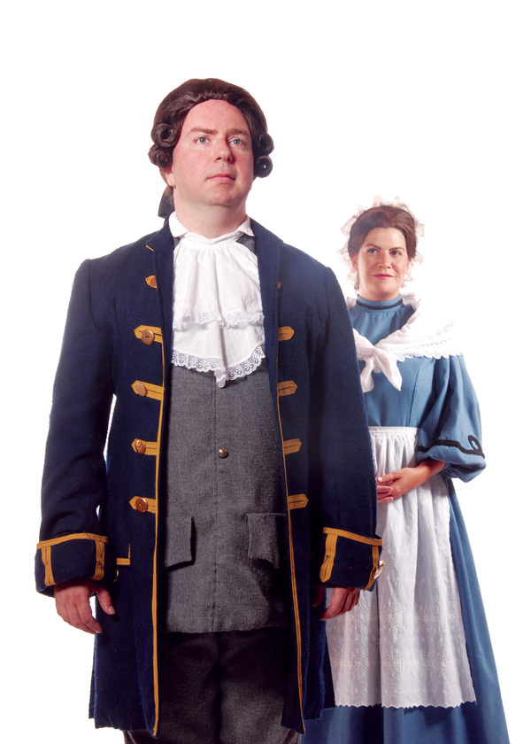 Pictured (left to right): Darius Pierce as John Adams and Dru Rutledge as Abigail Adams in the Tony award-winning musical 1776. Photo by Triumph Photography. Performances are September 9 - October 16, 2016 at Lakewood Theatre Company in Lake Oswego, Orego