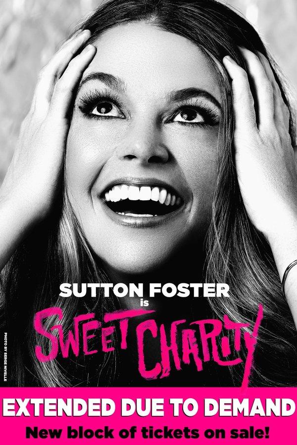 Photo Flash: Splashy Artwork Revealed for Sutton Foster-Led SWEET CHARITY