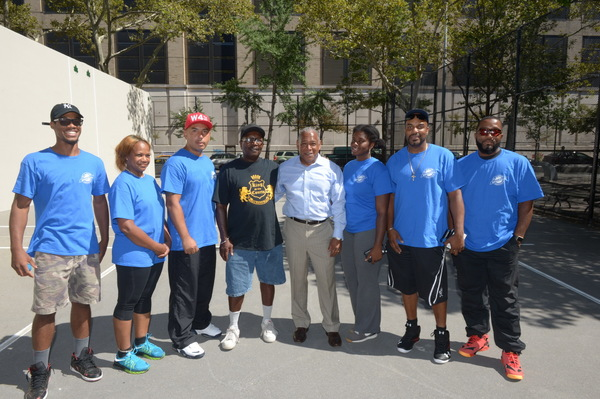 Photo Flash: NYC Parks Opens Two Newly Refurbished Handball Courts in Manhattan, Brooklyn