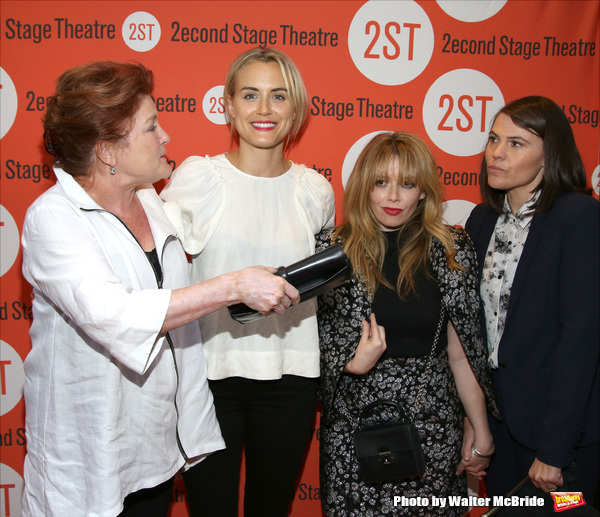 Kate Mulgrew, Taylor Schilling, Natasha Lyonne and Clea Duvall  attend the Opening Night of the new play 'The Layover' at Second Stage Theatre on August 25, 2016 in New York City.