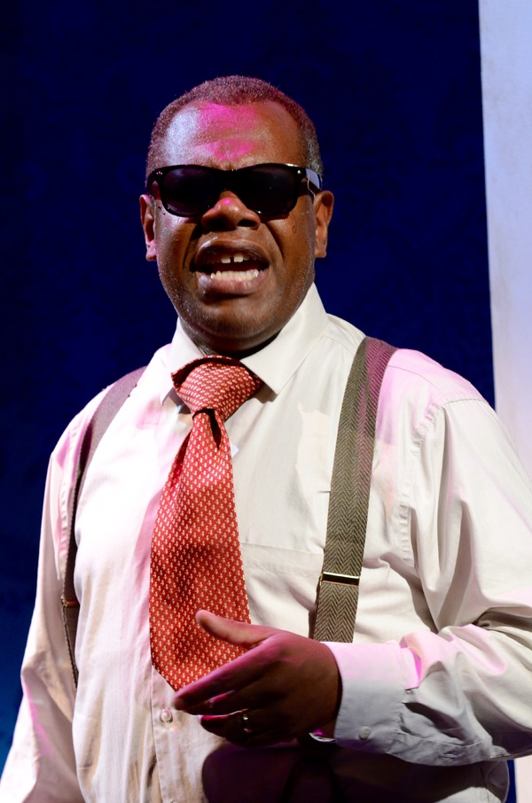 "Craig Wallace as Miles Davis in Satchmo at the Waldorf at Mosaic Theater Company of DC, August 25â€""September 25, 2016. Photo by Stan Barouh."