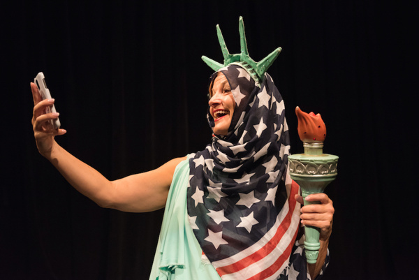 Photo Flash: First Look - Statue of Liberty Leaves Her Pedestal for Lady Liberty Theater Festival