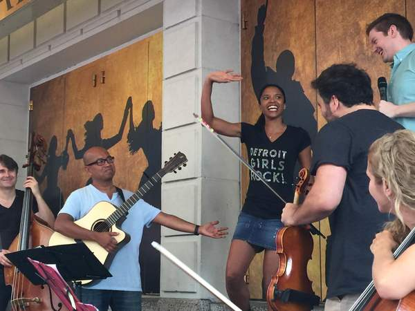 Renee Elise Goldsberry, Rory O'Malley, & The Ham4Ham Band