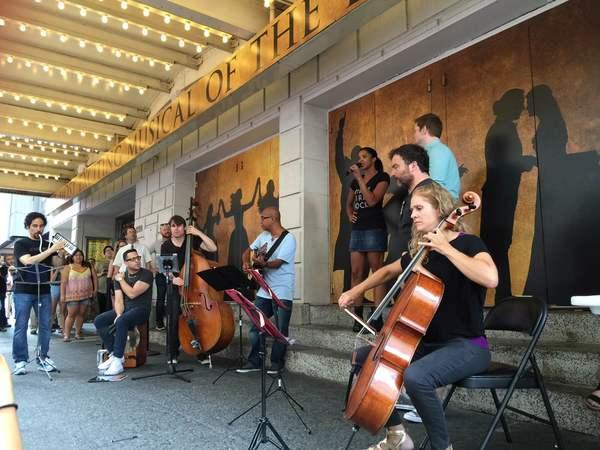 Renee Elise Goldsberry, Rory O'Malley, & The Ham4Ham Band