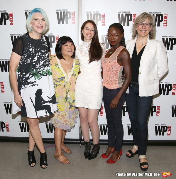 Lisa Lampanelli, Ann Harada, Jessica Luck, Zainab Jah and WP Theater Artistic Director Lisa McNulty
