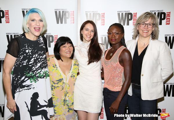 Lisa Lampanelli, Ann Harada, Jessica Luck, Zainab Jah and WP Theater Artistic  Lisa McNulty
