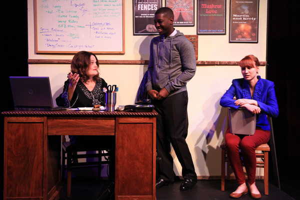 (left to right) Amy Kasper, Justin Wade Wilson and Brittany Stock in AstonRep Theatre Photo