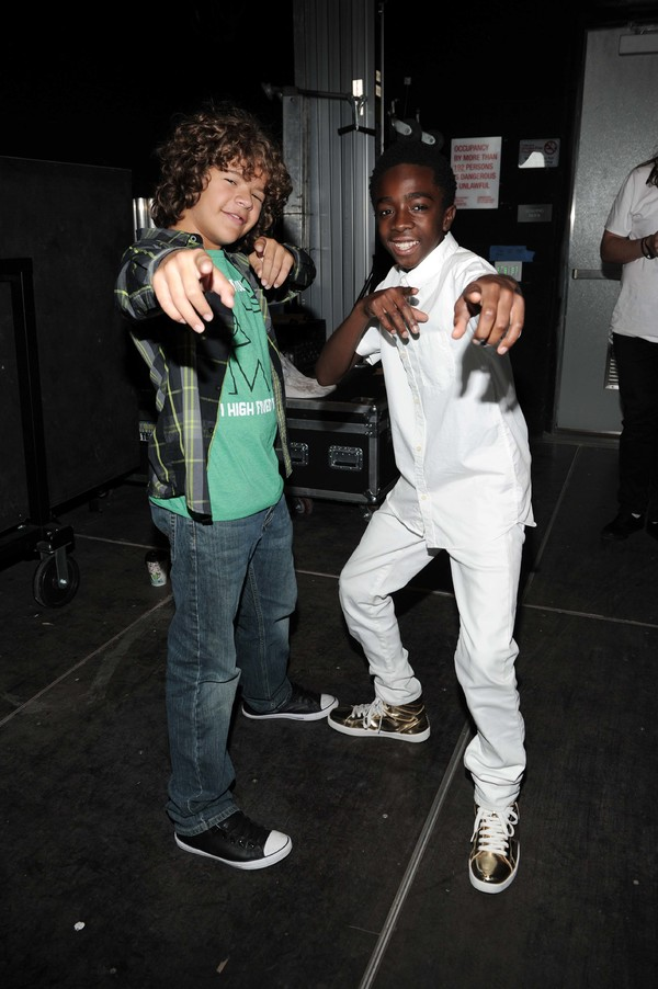 Gaten Matarazzo and Caleb McLaughlin