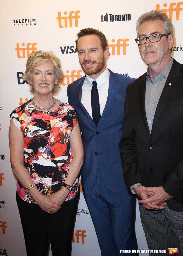 Lisa deWilde, Michael Fassbender and Piers Handling
