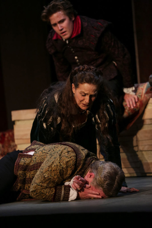 Spencer Hamp, Amy Thone, and Darragh Kennan in The Winter's Tale. Photo by John Ulman