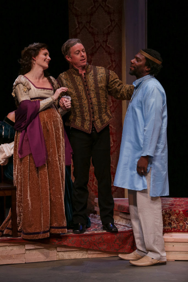 Brenda Joyner, Darragh Kennan, and Reginald Andre Jackson in The Winter's Tale. Photo by John Ulman.
