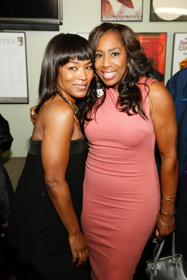 Actresses Angela Bassett and Dawnn Lewis