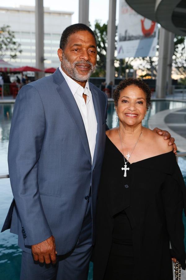 Athlete Norm Nixon and Debbie Allen