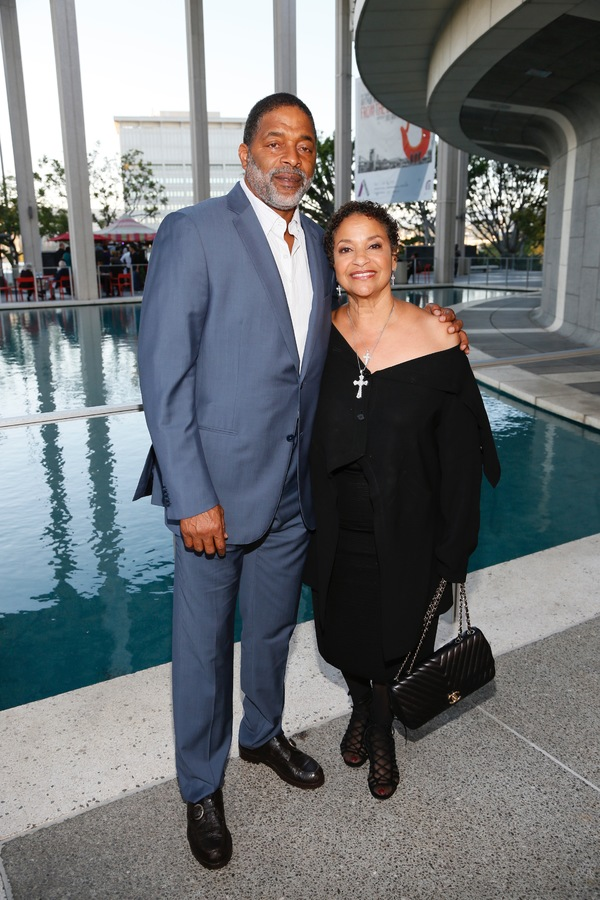 Athlete Norm Nixon and Debbie Allen