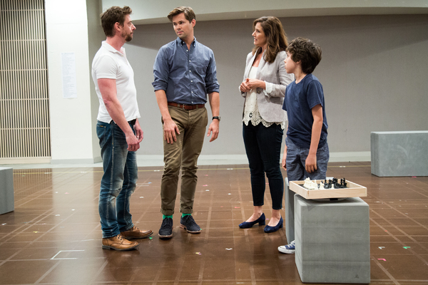 Christian Borle, Andrew Rannells, Stephanie J. Block, Anthony Rosenthal