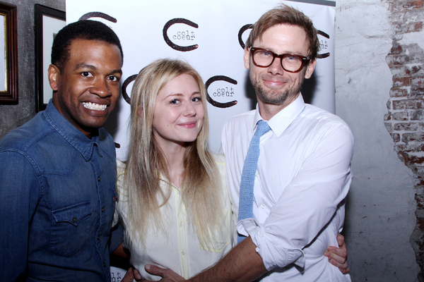 Genesis Oliver, Justine Lupe and Jimmi Simpson