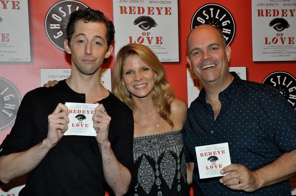 Josh Grisetti, Kelli O'Hara and Brad Oscar