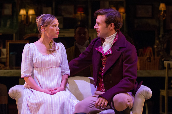 Marianne (Erin Weaver) shares a private moment with her love, John Willoughby (Jacob Fishel).