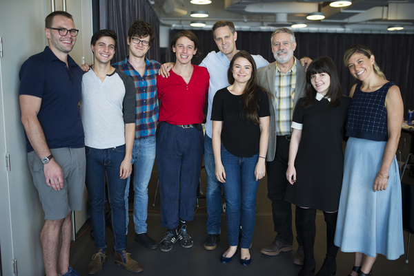 Playwright Samuel D. Hunter. Gideon Glick, Peter Mark Kendall, Christopher Sears, director Davis McCallum, Leah Karpel, Scott Jaeck, Madeline Martin, Zoe Winters