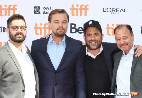 Tim Pastore, Leonardo DiCaprio, Brett Ratner, and  Fisher Stevens